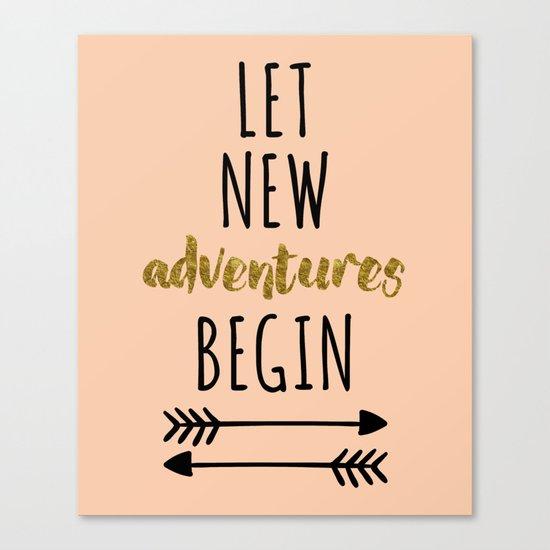 New Adventures Quote Canvas Print