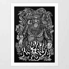 Knowledge is King... Art Print
