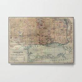 Vintage Map of Toronto (1894) Metal Print