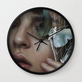 Girl with butterflies Wall Clock