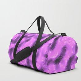 Lilac Liquid Plastic Surface Duffle Bag