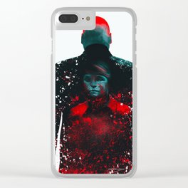 The Rabbit In A Snowstorm Clear iPhone Case
