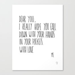 Dear You Canvas Print