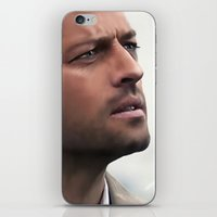 castiel iPhone & iPod Skins featuring Castiel by LindaMarieAnson