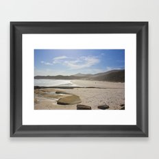 Squeaky Beach Framed Art Print