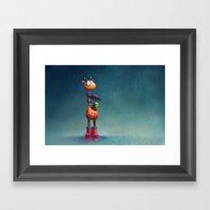 Winter Giraffe Framed Art Print