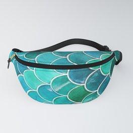 Aqua Mermaid Teal Tile Fanny Pack