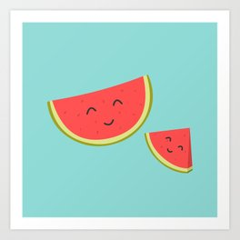Happy Watermelon Art Print