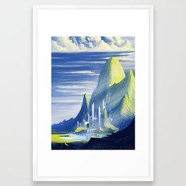 Castle and lake Framed Art Print