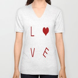 L O V E Typography Unisex V-Neck