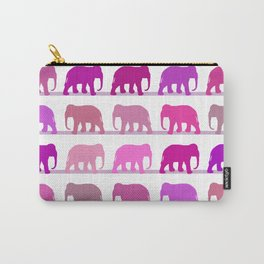 Elephants Pink Carry-All Pouch
