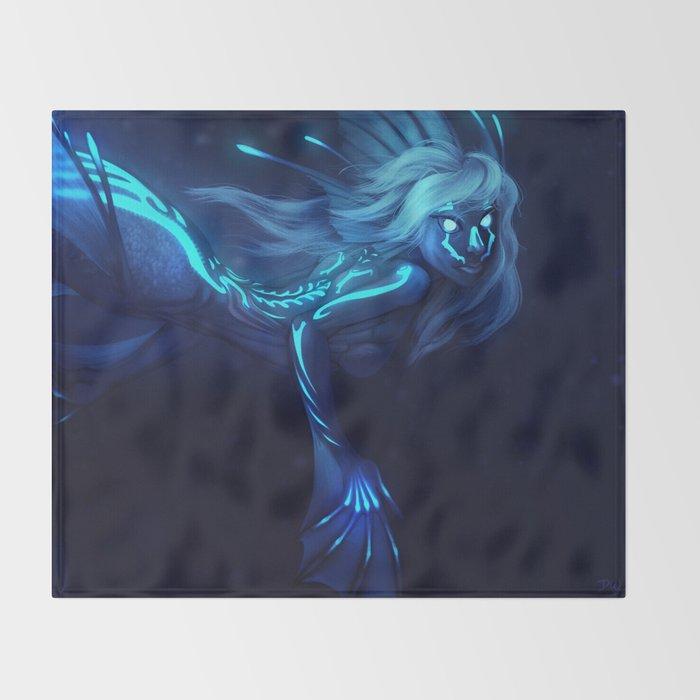 Deep Sea Mermaid Throw Blanket