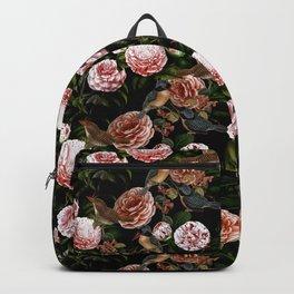 Vintage & Shabby Chic - Blush Camellia & Kingfishers Backpack