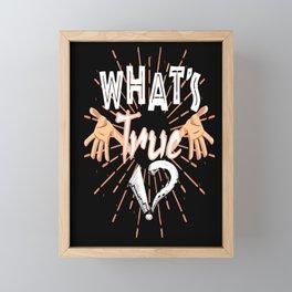 The question that we always seek Framed Mini Art Print