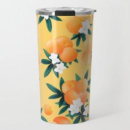 Orange Twist Flower Vibes #3 #tropical #fruit #decor #art #society6 Travel Mug