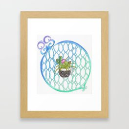 Cup of Cactus Framed Art Print