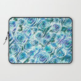 Textured Roses Blue Amanya Design Laptop Sleeve