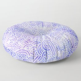 Lavender and white swirls doodles Floor Pillow