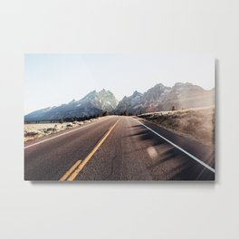 Road to Jenny Lake Metal Print