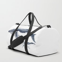 Humpback whale with calf Duffle Bag