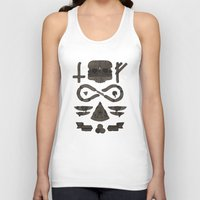 occult Tank Tops featuring Fast Food Occult by Hector Mansilla