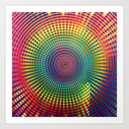 1000 colors circles Art Print