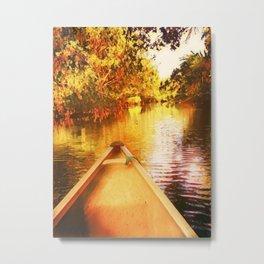 Drifting Down the River Metal Print