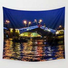 Raising bridges in St. Petersburg Wall Tapestry