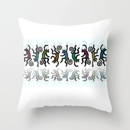 DANCING CATS LINE DANCE Throw Pillow