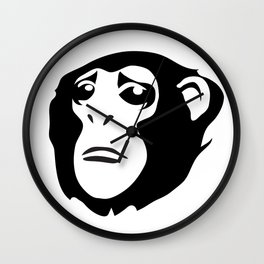 Sad Monkey Wall Clock