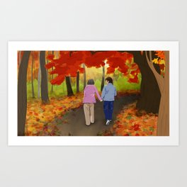 Autumn Walk Art Print