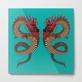 DRAGON INK turquoise Metal Print