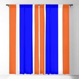 TEAM COLORS 10....ORANGE AND BLUE Blackout Curtain