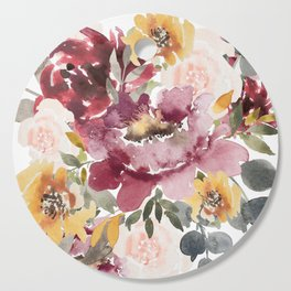 Large floral autumn Cutting Board
