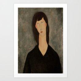 "Amedeo Modigliani ""Bust of a Woman"" Art Print"