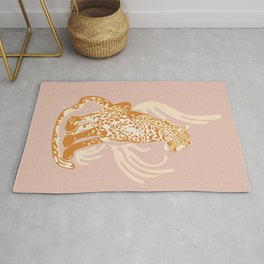 Lola, The Leopard / Wild Cat in Blush and Yellow Rug