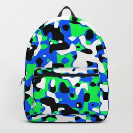 Uncovered Camouflage Neon Blue Backpack