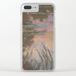 Water-Lilies, Setting Sun Clear iPhone Case