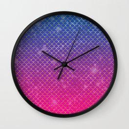 Mermaid Stars Wall Clock