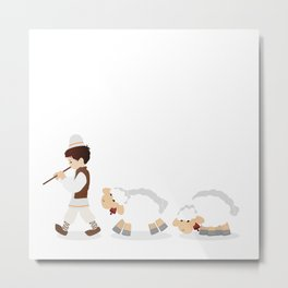 Flock and shepherd Metal Print