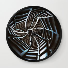 Twisted Cyberpunk Tunnel Wall Clock