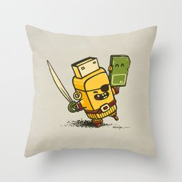 Cyber Pirate Throw Pillow