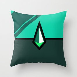 Malachite Pokeball Throw Pillow