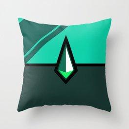 Malachite Pokeball Throw Pillow