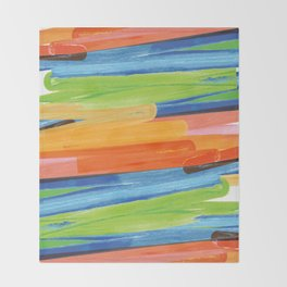 Color yellow red blue green Throw Blanket