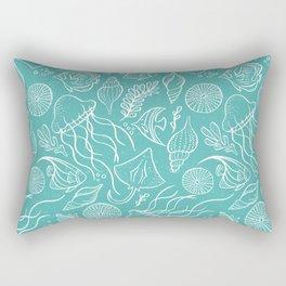 Sea Life - Aqua Rectangular Pillow