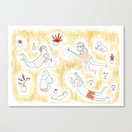 Drawing Party Canvas Print