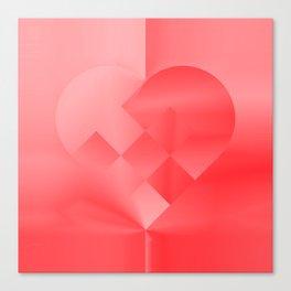 Danish Heart Love Canvas Print