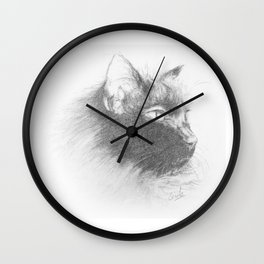 Portrait de chat Wall Clock