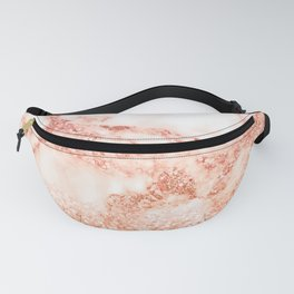 Sparkly Peach Copper Rose Gold Ombre Bohemian Marble Fanny Pack